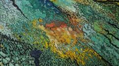 Mes 4 éléments, 2012, acrylique sur toile, 100 x 100 cm