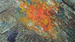 Mon volcan quotidien, 2012, acrylique sur toile, 120 x120 cm