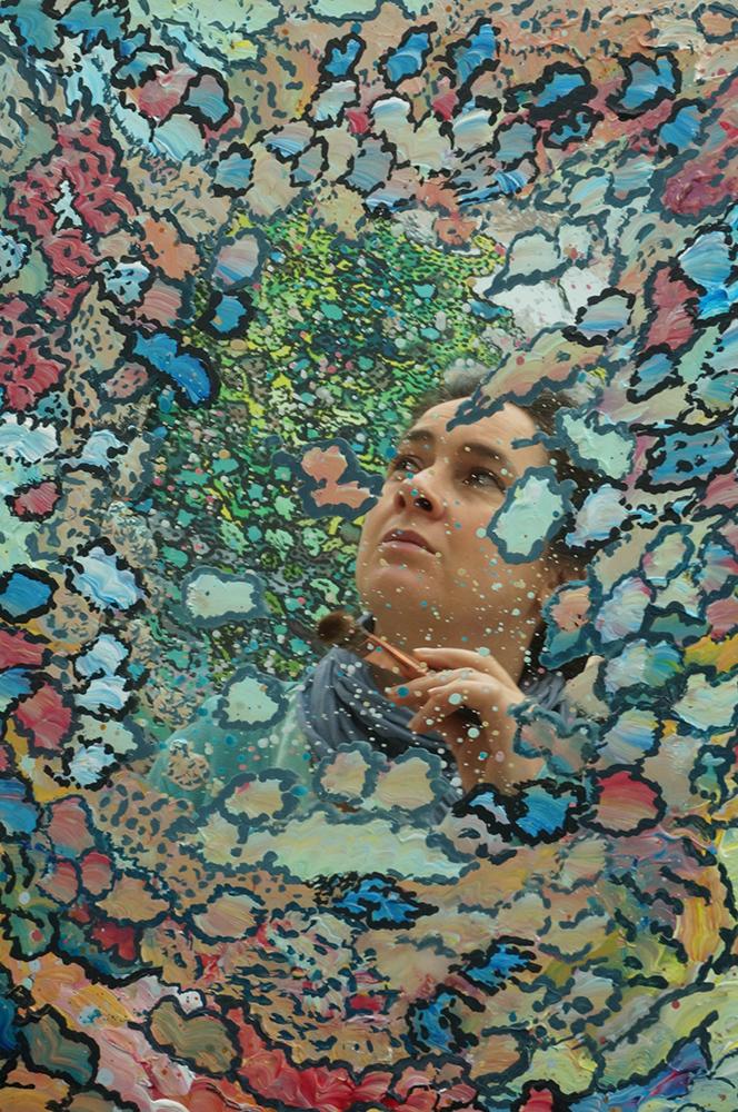 Photo peinture autoportrait