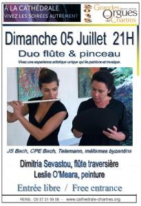 Soiree 05.07.15 Flute & peinture