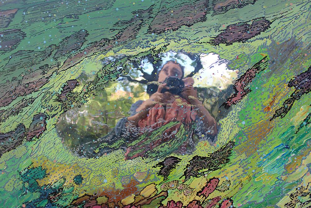 autoportrait au miroir 3,  2013, photographie