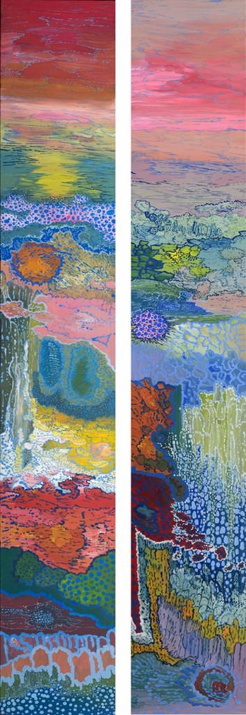 180 x 30 cm x 2 acrylique sur toile