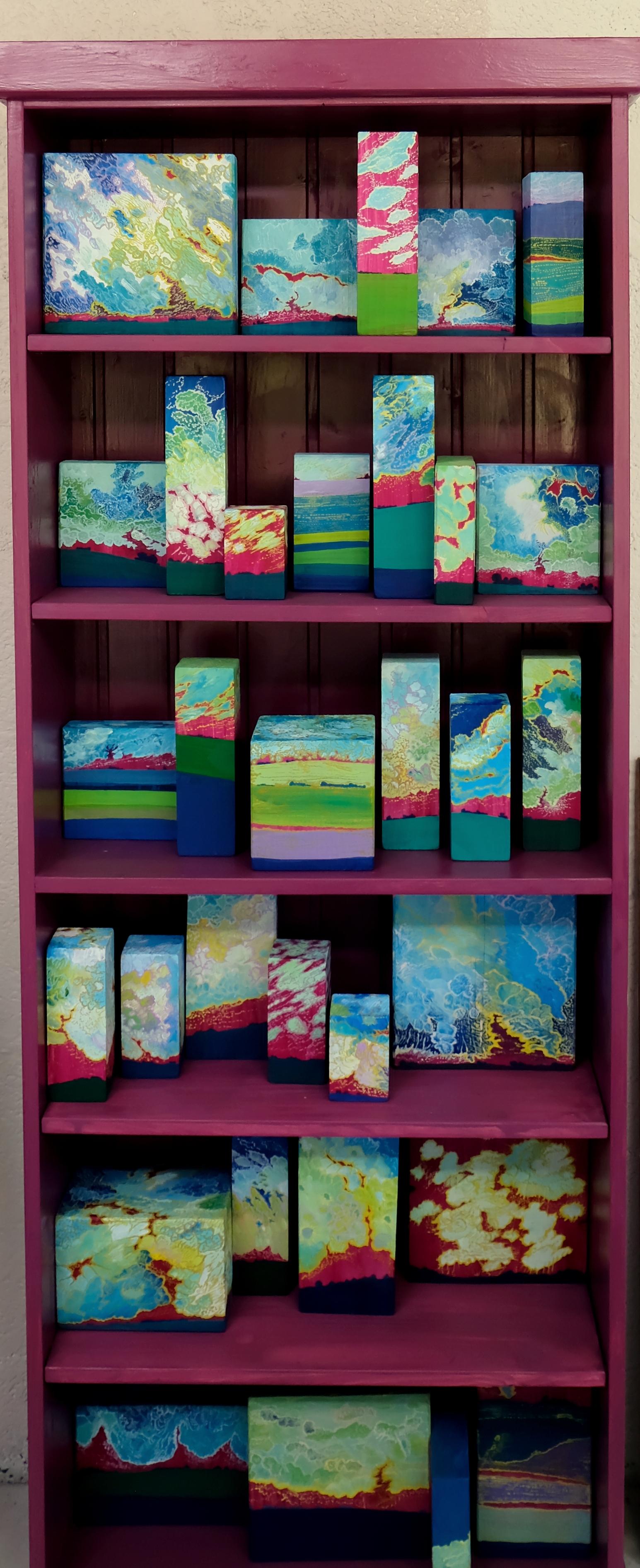 La Géothèque Installation Peinture Acrylique Sur Bois 2018