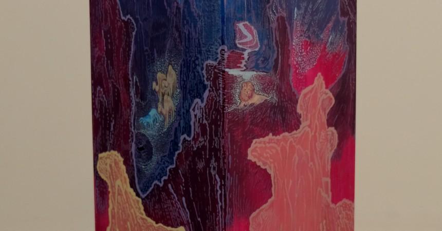 Saint Jérôme, peinture acrylique sur poutre de sapin, 2017